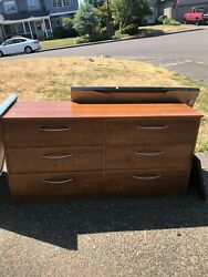 Dresser, Hip Height, Thin And Long, Metal Hardware About 80 Pounds