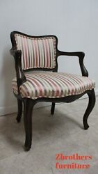 Vintage 1950s Baker Furniture French Living Room Arm Lounge Chair A