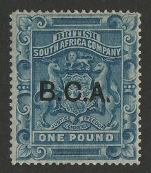 British Central Africa 1891 Bca On Arms Andpound1. Rare Genuine