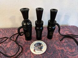 Set Of Three3 Ducks Unlimited Duck Calls 1992,1993 And Iowa Lanyards And Button