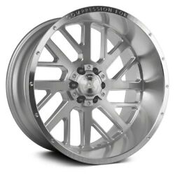 Axe Ax2.1 Compression Forged Wheels 22x12 -44 6x139.7 Silver Rims Set Of 4