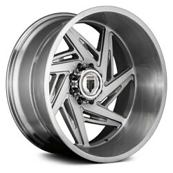 American Truxx At1906 Spiral Wheels 24x14 -76, 5x139.7 Brushed Rims Set Of 4