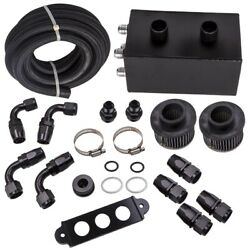 Universal 10an 4 Port Pro Series Oil Catch Can Dual Breather Tank Kit For Honda