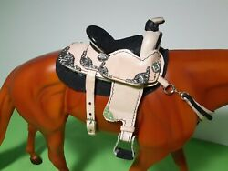 Hand Crafted Vintage Parade Leather Saddle Traditional Breyer Horse Peter Stone