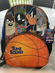 Space Jams Looney Tunes KIDS SCHOOL BACKPACK 17quot; with laptop sleeve NEW $24.25