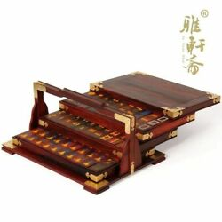 Home Decor Rosewood Woodcarving And Red Suanzhimu Mahjong Mahjong Box Retro