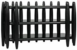 Noir Exile Console Table With Hand Rubbed Black Gcon335hb