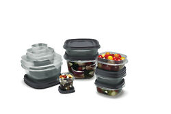 Rubbermaid Easy Find Lids Antimicrobial Food Storage Containers With Silvershiel
