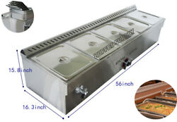 Commercial Food Warmer 5 Pans Lp Gas Powered Steam Food Warmer Machine Usa Sale