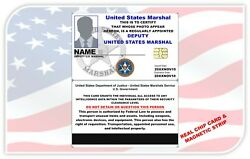 U.s. Marshal Service Ids Film / Stage / Cos-play / Collectible / Your Project