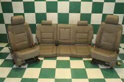 14-18 Gm Truck Crew Tan Leather Heated Cooled Dual Power Buckets Seats Backseat