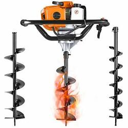 Salem Master Gas Powered Post Hole Digger Earth Auger Drill 52cc 2 Stroke With 3