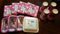 Minnie Mouse Girl Birthday Party Serverware Bundle Paper Cups, Napkins And Plates