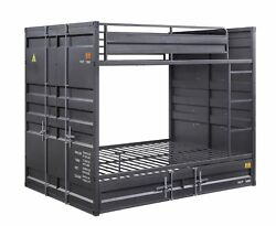 Acme Cargo Full Bunk Bed With Gunmetal Finish 37895