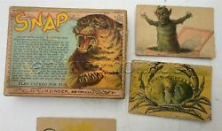 1890 Antique Victorian Snap Play Cuckoo Card Game Devil Scary Playing J.h.singer