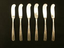 Camellia By Gorham Sterling Silver 5-3/4 Butter Spreaders Set Of 6
