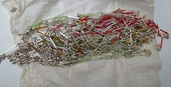 Antique Japan Glass Tubes And Beads Christmas Tree Garland - 945 Inches Total
