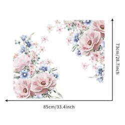 Decor Wall Sticker Flower Decal Mural Peony Removable Rooms Waterproof