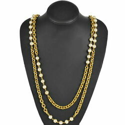 Long Necklace Series Pearl 93cm Vintage Previously Owned No.7913