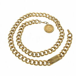 Belt Chain Belt Coin Gold Metal Material Previously Owned No.8679