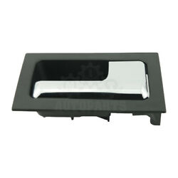 Interior Door Handle For 2009-2014 Ford F-150 Black Bezel With Chrome Lever