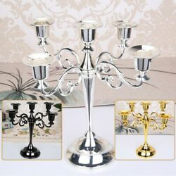 1x Table Candlesticks Candelabra Home Party Wedding Dining 5-arm Candle Holder