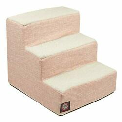 Majestic Pet Blush Pink Palette Heathered Portable Foam 3 Step Pet Stairs   S...