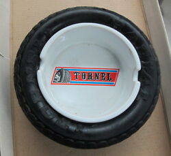Vintage Mexican Tornel Radial Deportiva Tire Ashtray  Soft Rubber Ceramic