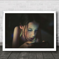 Computer Games At The Touch Of A Fingertip Girl Young Kid Wall Art Print