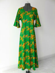 Vintage 60s 70s Green Boho Hippy Floral Maxi Dress By Two Potato Andhellip Bell Sleeve