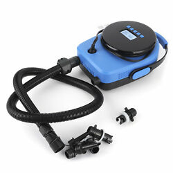 Electric Air Pump 20psi High Pressure Inflation And Lcd Display Set For -paddle