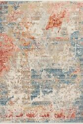 Loloi Claire 9and039-6 X 13and039 Area Rugs With Grey And Multi Claecle-07gyml96d0