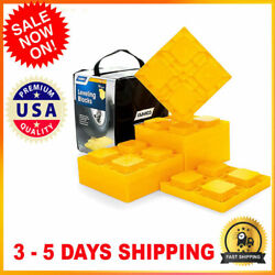 10 Pack Heavy Duty Leveling Blocks Interlocking Durable For Rvs Campers Trailer