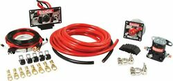 Quickcar Battery Cable Kit 4 Gauge Battery Disconnect Race Wiring Start Panal
