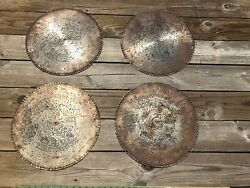 Lot Of 4 Antique Regina Music Box Discs 15 1/2and039and039 Mister Johnson 1590 1541 1501 D