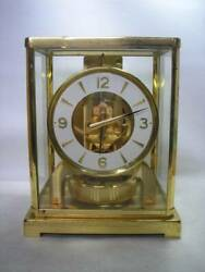 Jaeger-lecoultre Table Clock Metal Caliber 526-5 Swiss Made Antique From Jpn F/s