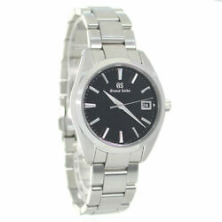 Grand Seiko 9f Quartz Heritage Collection Menand039s Watches Black Stainless No.6784