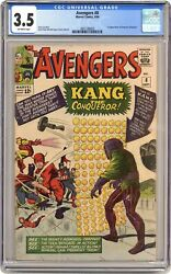 Avengers 8 Cgc 3.5 1964 3801188005 1st App. Kang The Conqueror