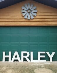 Vintage Rare Oversized Harley Sign Large 2' Exterior Plastic Signs Letters White
