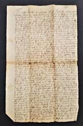 1726 Antique Colonial Deed Windsor Ct Nathaniel Rays Land Nowell Bragdon Clarke