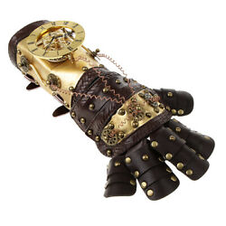 Steampunk Rivets Leather Arm Band Cuff Gloves Vintage Victorian Costume Prop