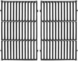 2 Pcs Cast Iron Cooking Grid Bbq Grill Grates For Weber E/s 300 Seri 19.5 X 13