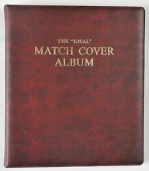 Matchbook Cover Album Book Binder With 106 Vintage Match Book Covers