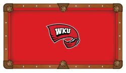 Western Kentucky Hilltoppers Red With Wku Logo Billiard Pool Table Cloth