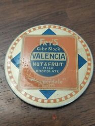 Antique Advertising Pocket Mirror Fry's Cube Block Valencia Nut And Fruit