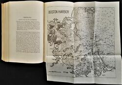 1891 antique BOSTON HISTORY and TOPOGRAPHICAL w FOLDOUT MAPS owned HUNNEWELL