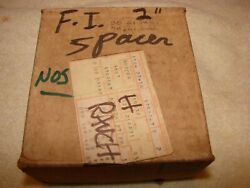 1957-61 Nos Corvette And Belair Fuel Injection Exhaust Spacer 2 Black Widow Gm
