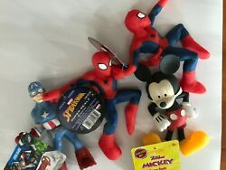 Hedstrom Stretch Super Realz Spiderman Avenger And Disney Mickey...............d