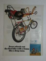 Magazine Ad- 1969 - Sears The Screamer Bicycle - Butterfly Bars