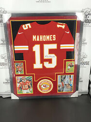 Patrick Mahomes Super Bowl Liv Champion Autographed Framed Jersey Beckett Suede
